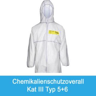 Chemikalienschutzoverall Kat. III Typ 4+5+6