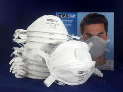 FFP3 Maske muschelform mit Ventil