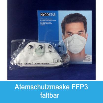 Atemschutzmaske faltbar mit Ventil