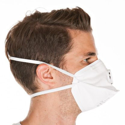 Atemschutzmaske im Profil
